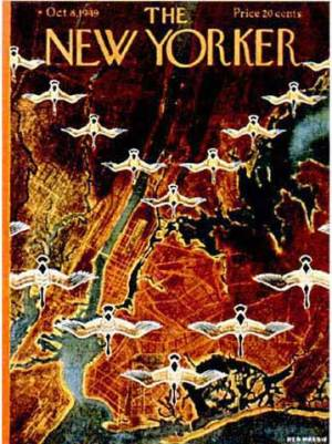 New Yorker magazine cover, 10/8/1949, by Reg Massie