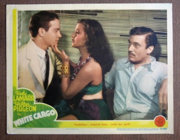 Richard Carlson, Hedy Lamarr and Walter Pidgeon in White Cargo
