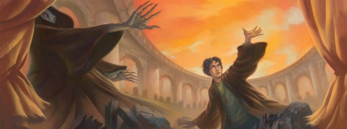 """Harry Potter and the Deathly Hallows"": cover of the US edition"