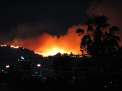 The Griffith Park fire, May 8, 2007
