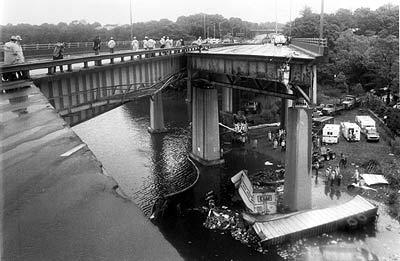 Mianus River bridge collapse, Cos Cob, CT, June 1983