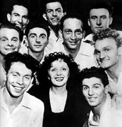 Édith Piaf with the Compagnons de la Chanson